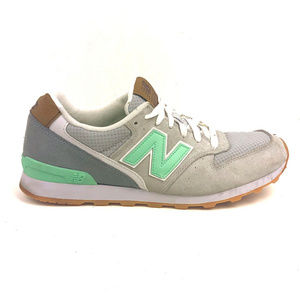 New Balance WL696TCS Gray Mint Lace up Sneakers